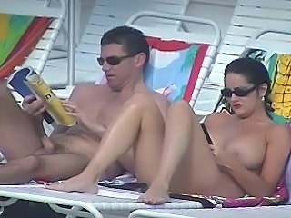Beach Big Tits  Nudist Outdoor Voyeur