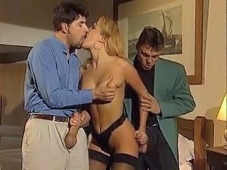 Blonde Handjob Italian Kissing  Pornstar Stockings Threesome