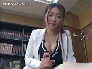 Asian Big Tits Handjob Japanese  Office Secretary