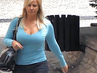 Big Tits  Outdoor Voyeur