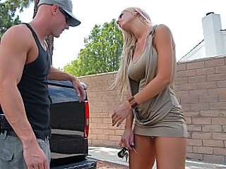 Big Tits Blonde  Outdoor Pornstar