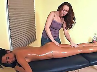 Ass Lesbian Massage Masturbating  Oiled