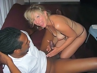 Amateur Handjob Homemade Interracial  Wife