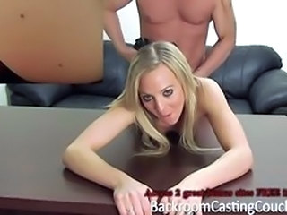Amateur Blonde Casting Doggystyle