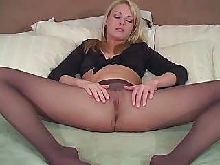Amazing Blonde Legs  Pantyhose Solo