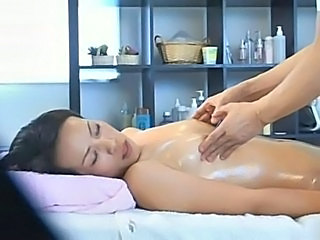 Asian HiddenCam Massage  Oiled Small Tits Voyeur Wife