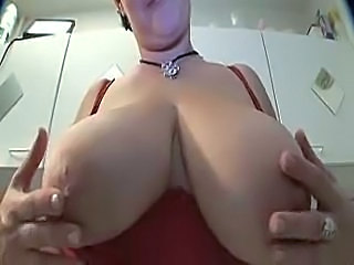 Amateur Big Tits European Kitchen  Natural  Wife