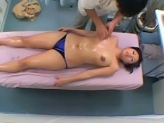 Asian Big Tits HiddenCam Japanese Massage  Oiled Voyeur