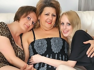 Family Lesbian Mature Mom Old and Young Teen