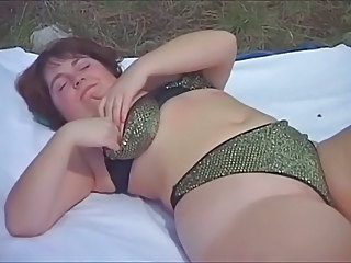 Amateur Chubby Lingerie  Outdoor