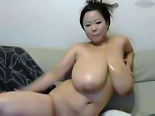 Amazing Asian Big Tits Chubby  Natural  Solo Webcam