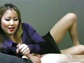 Asian Chinese Handjob  Office Secretary