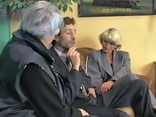 German Mature Office Threesome