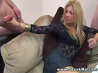 Blonde  Drunk Handjob  Natural