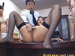 Asian Gangbang Hairy Japanese  Stockings