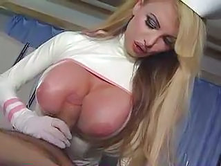 Amazing Big Tits  Nurse Pornstar Silicone Tits Tits job Uniform