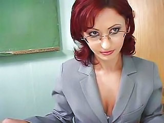 Cute Glasses  Redhead Teacher