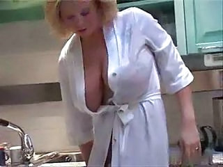 Big Tits Kitchen  Natural