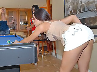 Amazing Ass Game Lesbian  Pornstar Skirt Upskirt