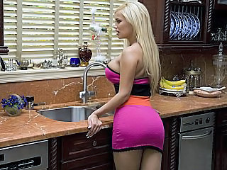 Amazing Ass Big Tits Blonde Kitchen  Pornstar Wife
