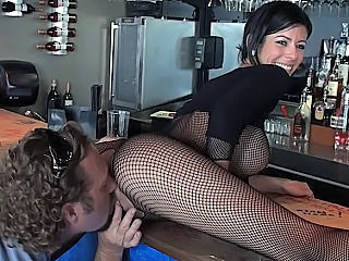 Big Tits Fishnet Lingerie Licking  Silicone Tits