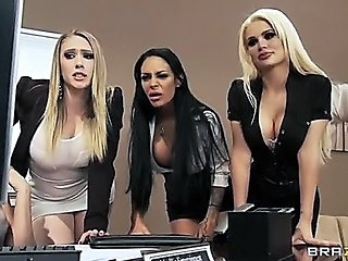 Amazing Big Tits Cute  Office Pornstar