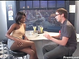 Amazing Ebony Interracial