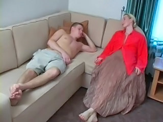 Amateur Blonde  Mom Old and Young Russian