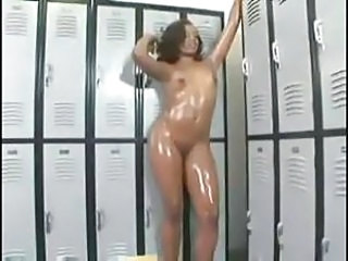 Amazing Ebony  Oiled Small Tits