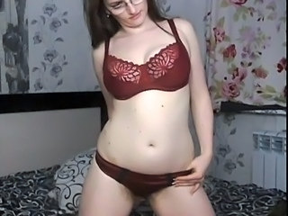 Glasses Lingerie  Russian Solo Webcam