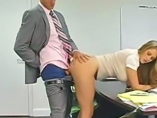 Amazing Clothed Cute Doggystyle Hardcore  Office Secretary