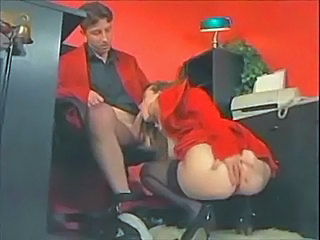 Amazing Blowjob Clothed  Office Pornstar Secretary Stockings