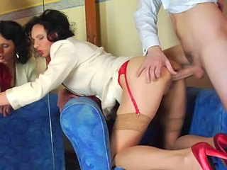 Anal Brunette Doggystyle Hardcore  Mom Stockings