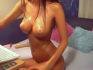 Big Tits  Oiled Webcam
