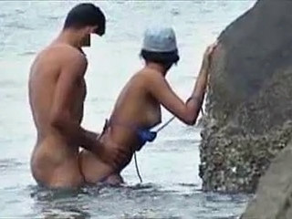 Beach Doggystyle  Nudist Outdoor Voyeur