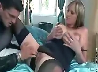 Big Tits Mature Mom Pussy Shaved Stockings