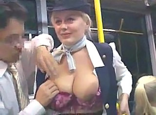 Big Tits Bus  Outdoor