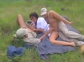 Amateur Double Penetration Mature Outdoor Threesome