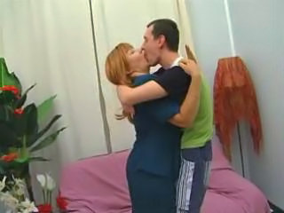 Kissing Mature Mom Old and Young Redhead
