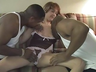 Amateur Interracial Lingerie  Threesome Wife