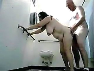 Chubby Mature Older Toilet Wife