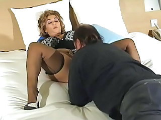 Lingerie Licking Mature Older Stockings