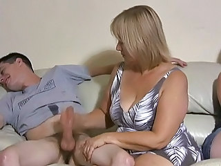 Amateur Family Handjob Mature Mom Old and Young