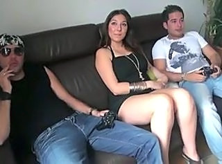 Amateur Chubby European French  Threesome