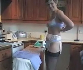 Amateur Kitchen Lingerie  Stockings