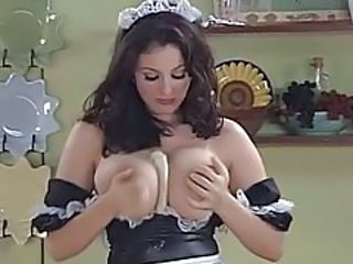Big Tits European French Kitchen Maid  Natural Uniform