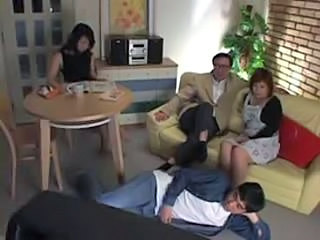 Asian Daddy Family Japanese Mom Old and Young