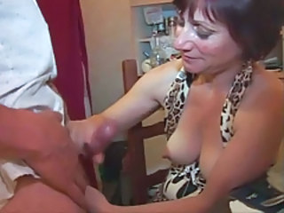 European French Handjob Mature