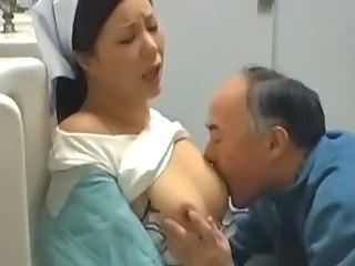Asian Japanese  Nipples Old and Young Public Toilet Uniform