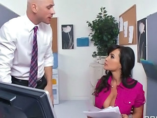 Big Tits Brunette  Office Secretary